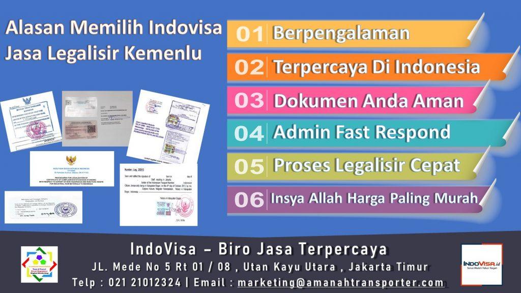 Jasa Legalisir Kemenlu Terpercaya Di Indonesia